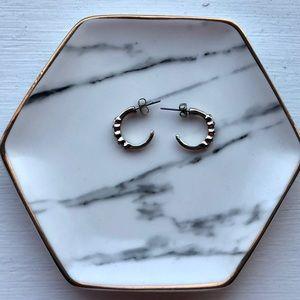 Sterling silver, crystal earrings